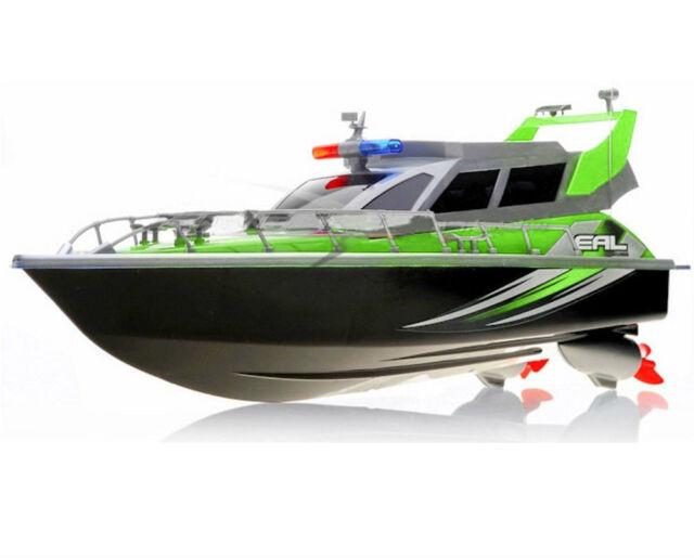 1:20 Police Patrol Cruiser RC Boat Electric Remote Control 4CH RTR Green