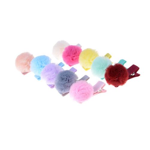 lot Korean Net Garn Ball Mädchen Kleine Feste Haarspange Kinder HaarZJP 10 x