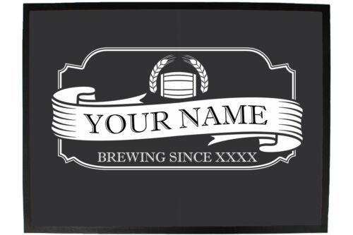 your name brewing since Funny Doormat Novelty Door Mat Birthday Home Office