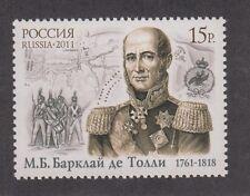 Russia 2011 250 anniversario nascita Barclay De Tolly 7469 Mnh