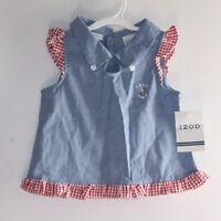 Izod Girls Shirt Size 4 Nautical Ships Anchor Top Retail $24 --aax