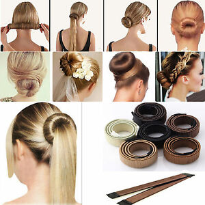 2 4 8x Daily Womens Easy To Use Bun Hair Band Hair Twist Styling