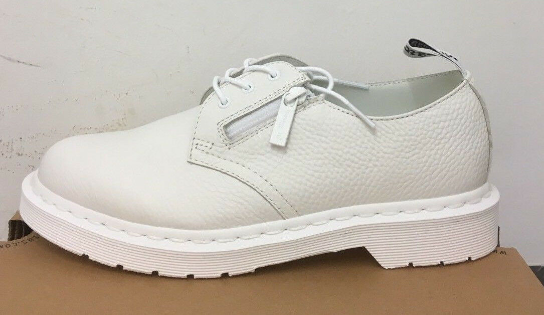 DR. MARTENS 1461 W ZIP WHITE AUNT SALLY    SHOES SIZE UK 6.5 b54488