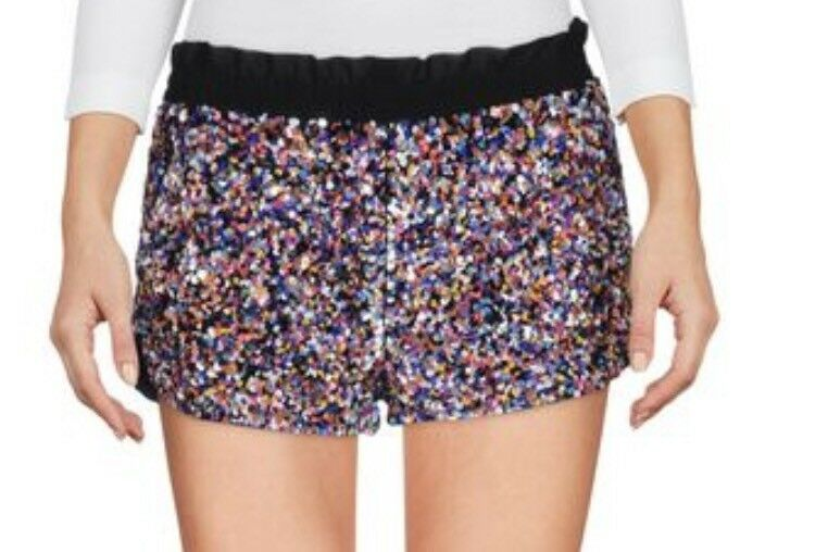 Red Valentino Multi colord Sequin Shorts, Sz 40