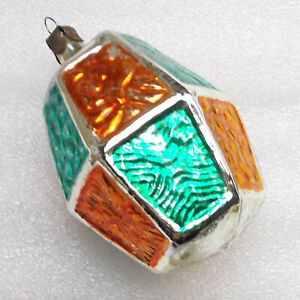 Antiker-Russen-Alten-Christbaumschmuck-Glas-Weihnachtsschmuck-Old-Dekoration