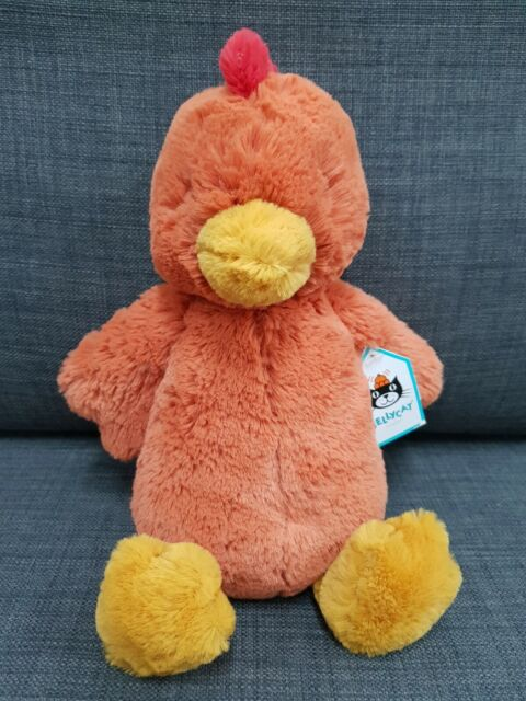 Kids Soft Toy - Jellycat Bashful Rooster Medium- Baby Kids Birthday Present!