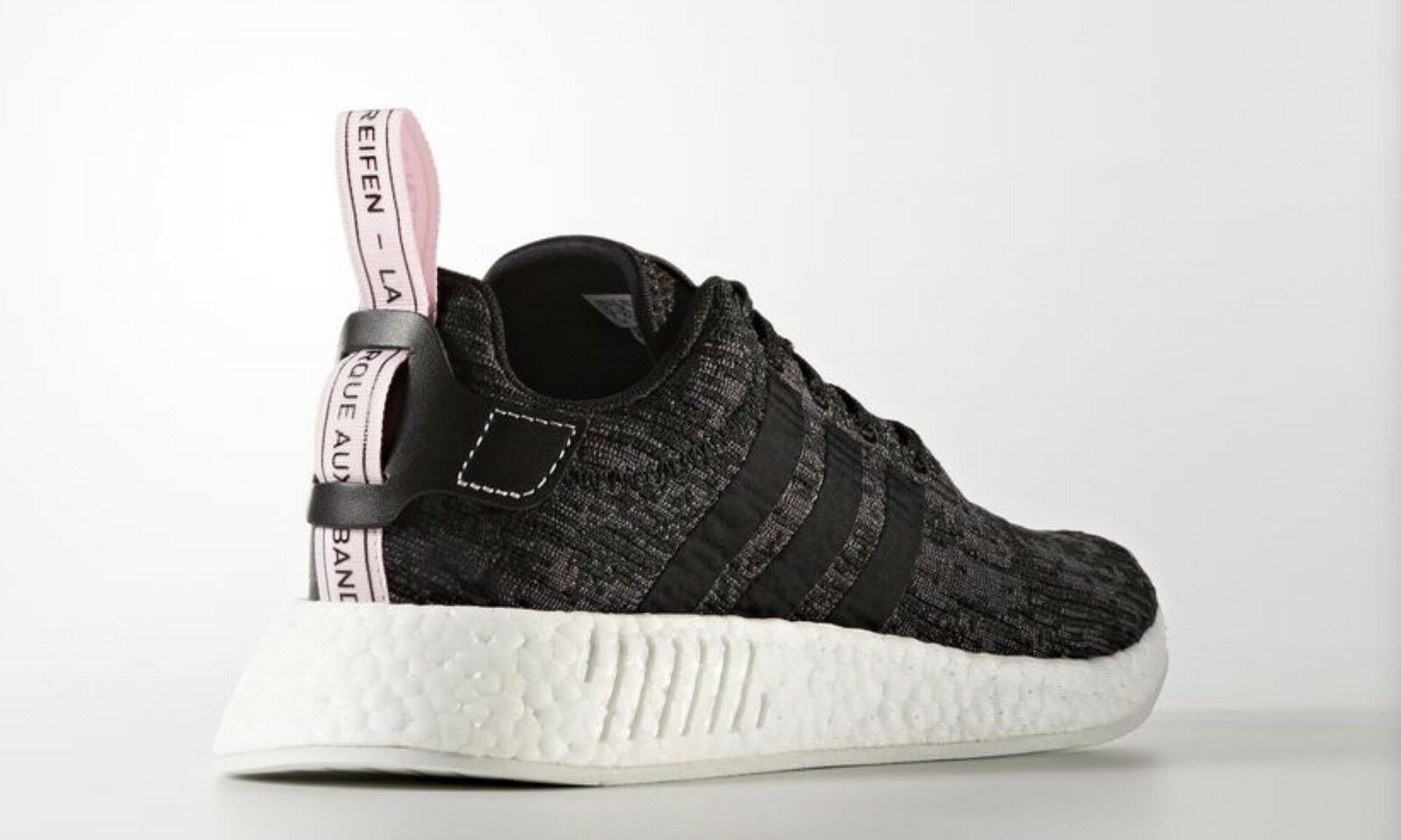 NEW Adidas Adidas Adidas Originals BY9314 WOMEN'S NMD R2 BOOST SHOES Black Pink US9 a5ceee
