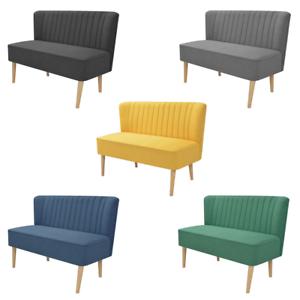 Details zu Sofa Loungesofa Couch Stoffsofa Stoff 2-Sitzer Design Truhe  Sofas Wohnzimmer