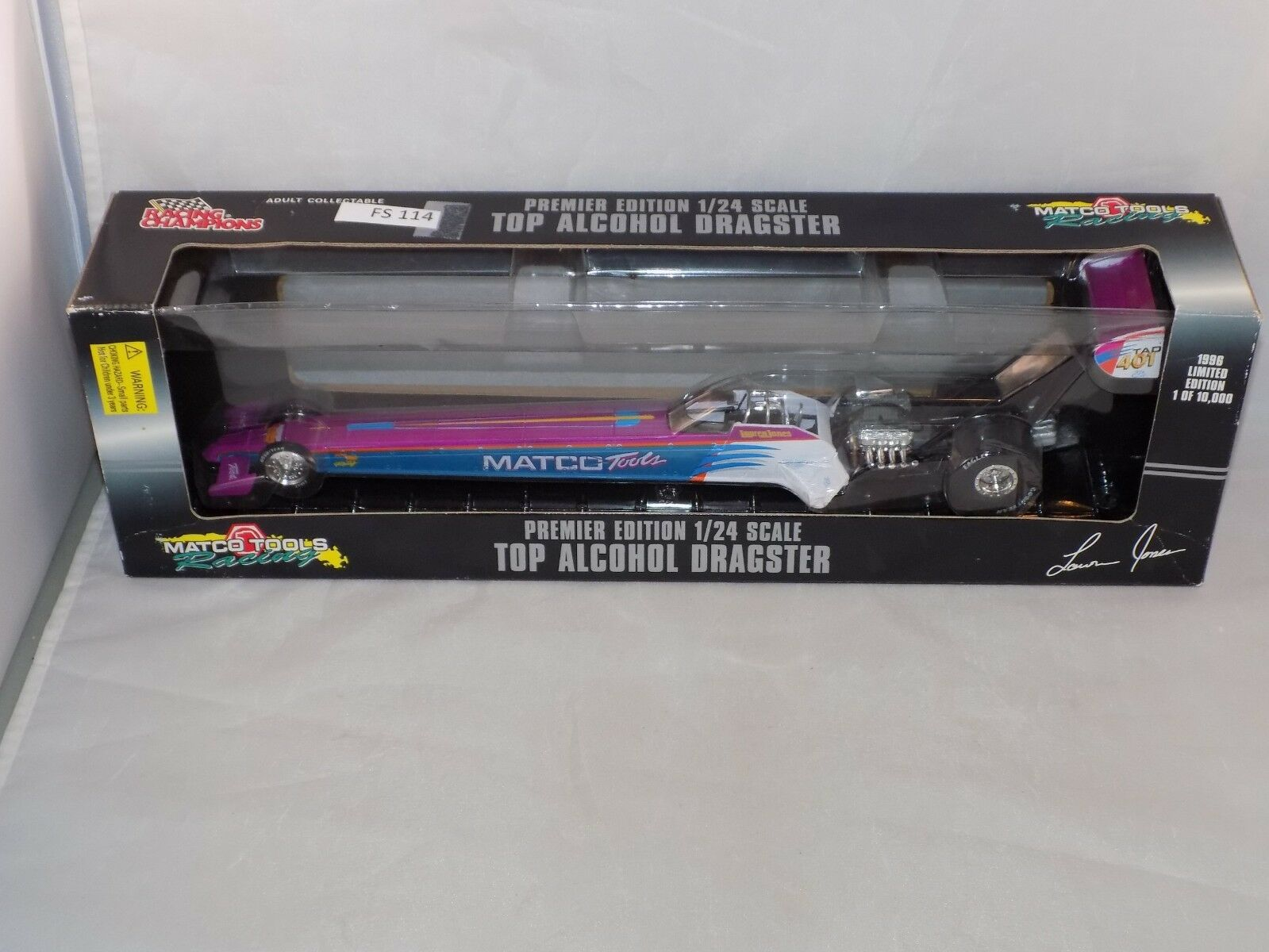 Racing Champions Premier Edition 1 24 scale Top Alcohol Dragster 1996  (FS 114)