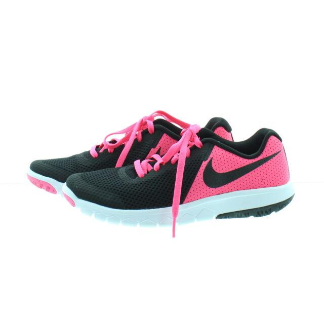 2e94fff770e7e Nike Girls Flex Experience 5 Big Kids 844991-600 Black Pink Running Shoes  Sz 4.5