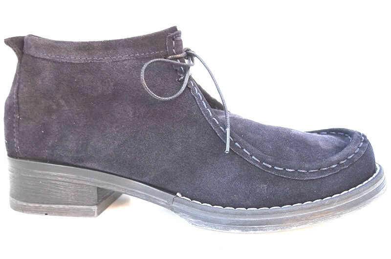 OGS Wide shoes Roberta bluee Soft Suede Boots 3E wide