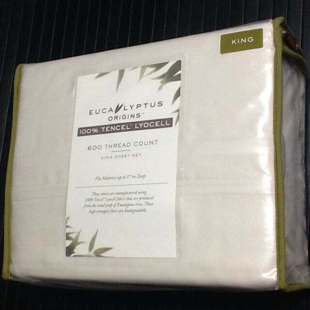 Eucalyptus Origins Tencel Lyocell 600-Thread-Count King Sheet Set in Ivory