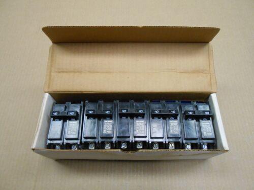 5 NIB CHALLENGER C240 CIRCUIT BREAKER 40A 40 AMP 2P 240V 240 VOLT BOX OF 5