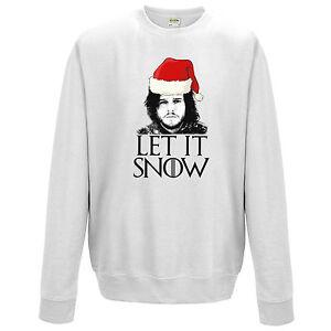 let it snow sweatshirt funny jon throne stark