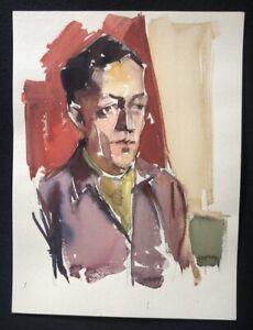Rolf-Boehlig-Portrait-Gouache-1962-von-Rosel-Boehlig-bestaetigt