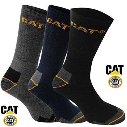 CAT Caterpillar Crew Work Socks 3,6 Pair Sizes 6-11 /& 11-14 Multi buy Savings