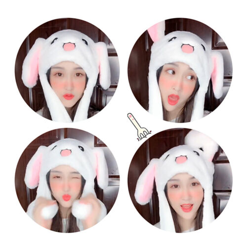 Creative Move Rabbit Ear Hat Pinching Airbag Cap Bunny Hat Plush Toy lp75
