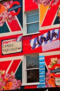 Graffiti street art mural in Camden Town London photograph picture poster print