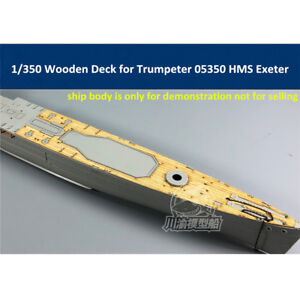 1-350-Wooden-Deck-for-Trumpeter-05350-HMS-Exeter-Heavy-Cruiser-Model-CY350055