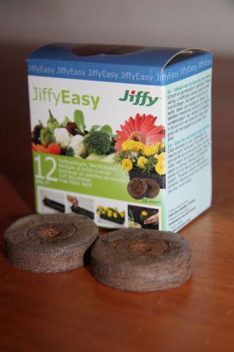 Pflanzen 100/% Bio OVP Jiffy Easy 12 Torftabletten Torf Torfquelltöpfe Anzucht v