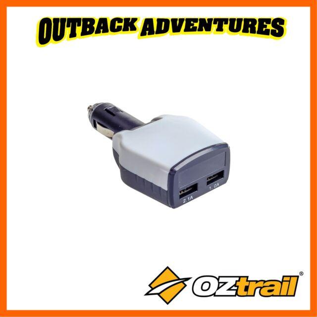 OZTRAIL CIGARETTE LIGHTER 12V CAR BATTERY & CHARGING MONITOR w/ TWO USB PORTS