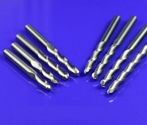 10pcs 3.175mm  2 Flute Carbide Ball Nose End Mills Router Bit 20mm CEL 159A
