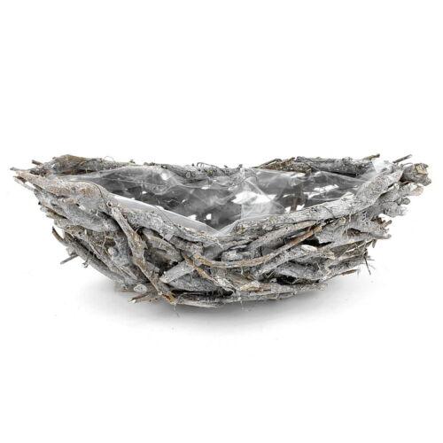 Shabby Pflanzschale Schiffchen grau gewaschen Landhaus ! Wurzelholz