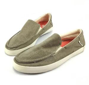 6832024778c Vans Bali Khaki Slip On Loafers Surf Sliders Hemp Rasta Mens Skate ...