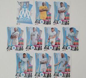 2020-21-Match-Attax-UEFA-Champions-League-Marseille-team-set-10-cards