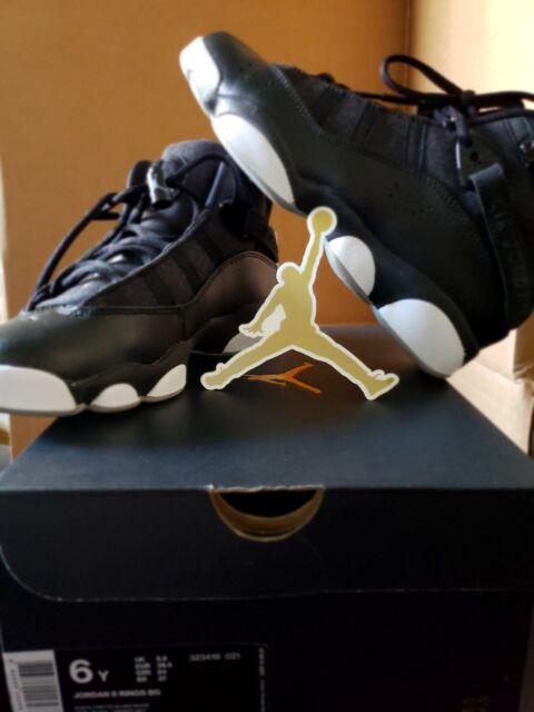 dd76651ce4e389 Nike Air Jordan 6 Rings BG Black White Youth 323419-021 New Retail  130
