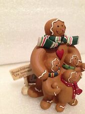 BLOSSOM BUCKET GINGERBREAD MAN XMAS FIGURINE-GRANDCHILDREN THE SWEETEST GIFT