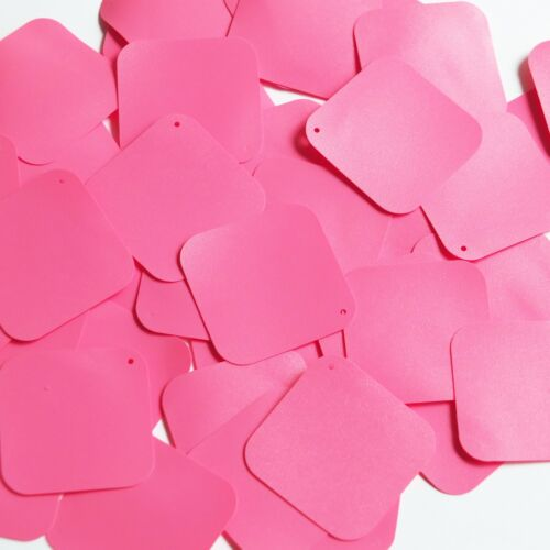 "Square Diamond Sequin 1.5"" Bubblegum Pink Opaque Vinyl Loose Couture Paillettes"