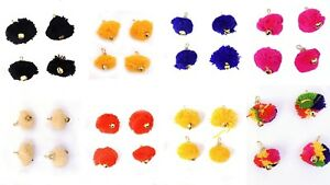Indian-Pom-Pom-Applique-Floral-Shell-Bell-Hand-Crafted-Home-Decor-Festive-12-PCs