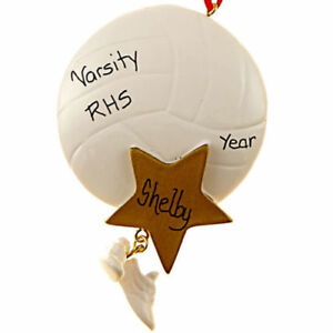 1d03c950394 Volleyball Star With Hanging Shoes Personalized Christmas Tree ...