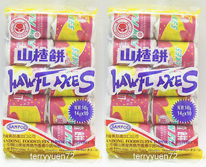 Haw Flakes Hawthorn Cake Slices Chinese Snack Candy 10 Rolls 140g X