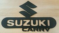 Suzuki Carry Emblem Logo Metal Wall Art Plasma Cut Decor