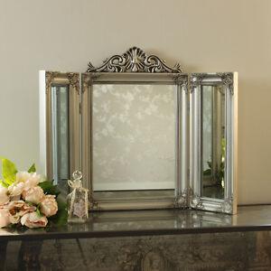 silber harz kunstvoll schminktisch dreifach spiegel billig. Black Bedroom Furniture Sets. Home Design Ideas