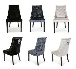 Heston-Crushed-Velvet-Dining-Chair-Deep-Blue-Black-Silver-Pearl-With-Knocker
