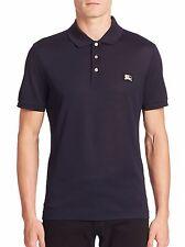 BN Burberry Brit Nova Plaid Dark Navy Blue Polo Shirt Size M Medium