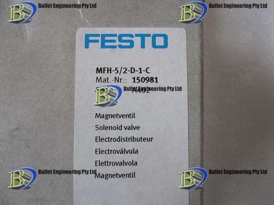 FESTO MFH-5/2-D-1-C SOL/SPRING PNEUMATIC VALVE150981