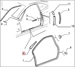 Genuina marca nueva Alfa Romeo 916 GTV carea//Mano Izquierda cierre de la puerta 60624862