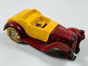 Vintage-Coupe-hierro-fundido-Juguete-de-reparacion-de-automoviles-Ruedas-De-Goma-R-1-Hubley-Arcade