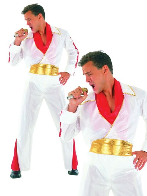Elvis Presley Mens Fancy Dress Costume Stag Party Outfit Rock n Roll