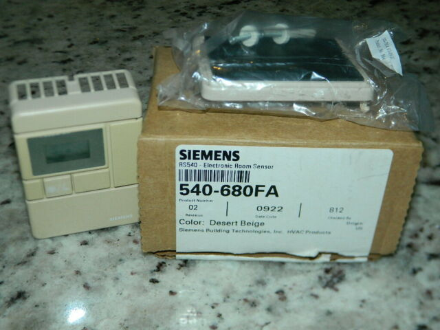 NEW Siemens 540-680FA Electronic Room Sensor Desert Beige Color