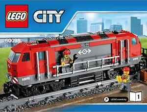 LEGO-City-Heavy-Haul-Locomotive-60098-Heavy-Haul-Train-No-Box-Power-Function