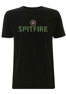 eea078f0 Image is loading Spitfire-plated-wording-with-roundel-t-shirt-supermarine-