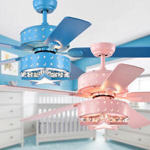 Funder 52 Star Crescent Childrens Room Lighted Ceiling Fan Includes Remote Ebay