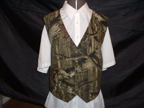 CAMO WEDDING 4 DIFFERENT MATERIALS AVAILABLE CAMOUFLAGE PROM VEST