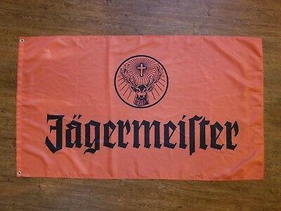 JAGERMEISTER ORANGE FLAG BANNER 3X5FT BAR CLUB GARAGE MANCAVE BEVERAGE