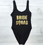 Ladies-BRIDE-SQUAD-Swimsuit-Bridesmaid-Swimming-Bathing-Costume-Hen-Party-Bridal miniatura 14
